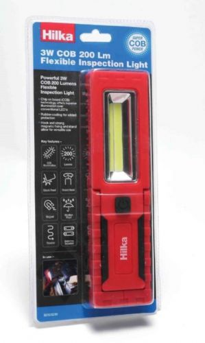 Hilka 3W COB 200 Lumens Flexible Inspection Light with Batteries 82023200